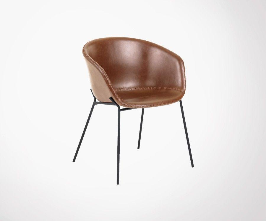 Assise Qualité Moderne Marron Design Cuir Chaise Supérieure 5R4AjL3qcS
