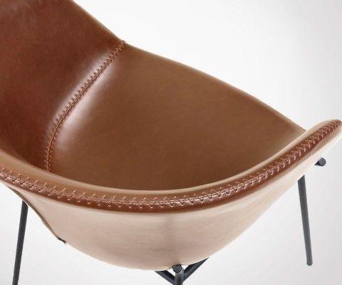 Chaise design industrielle pieds métal FEL