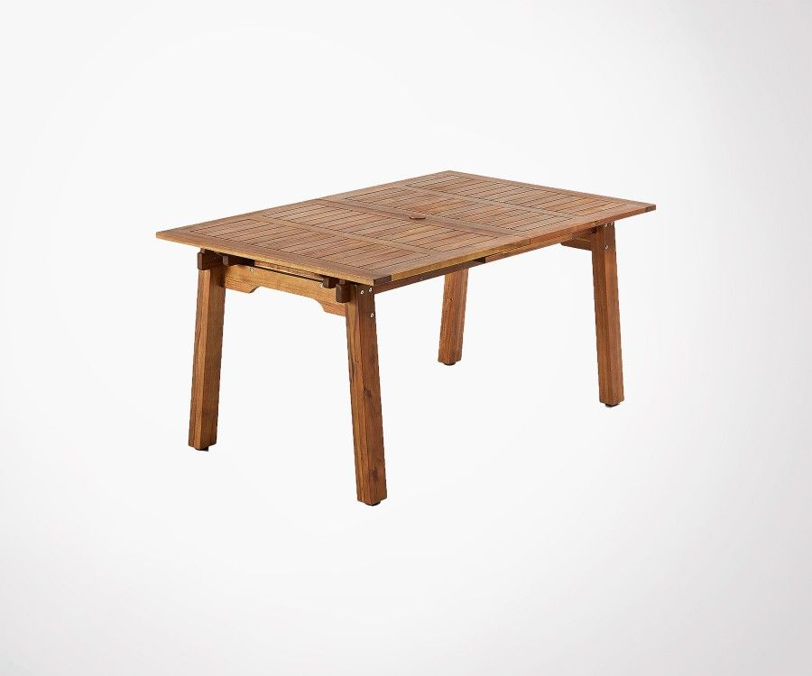 Table extensible de jardin 160-210cm bois acacia massif style naturel