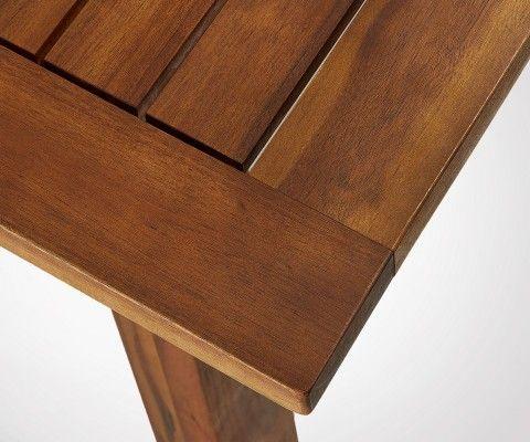 Table de jardin extensible 160-210cm bois massif EDEN
