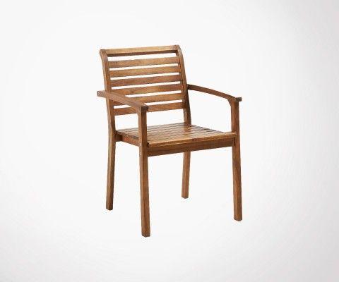 Chaise de jardin acacia massif TROP