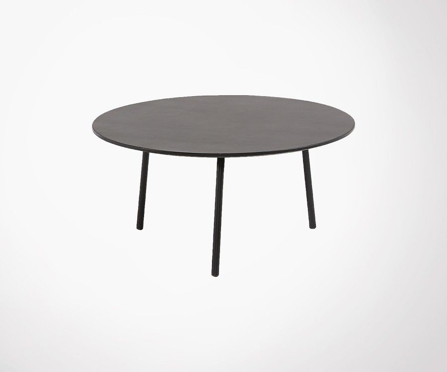 Table basse ronde 65cm polyciment peint BAHOS