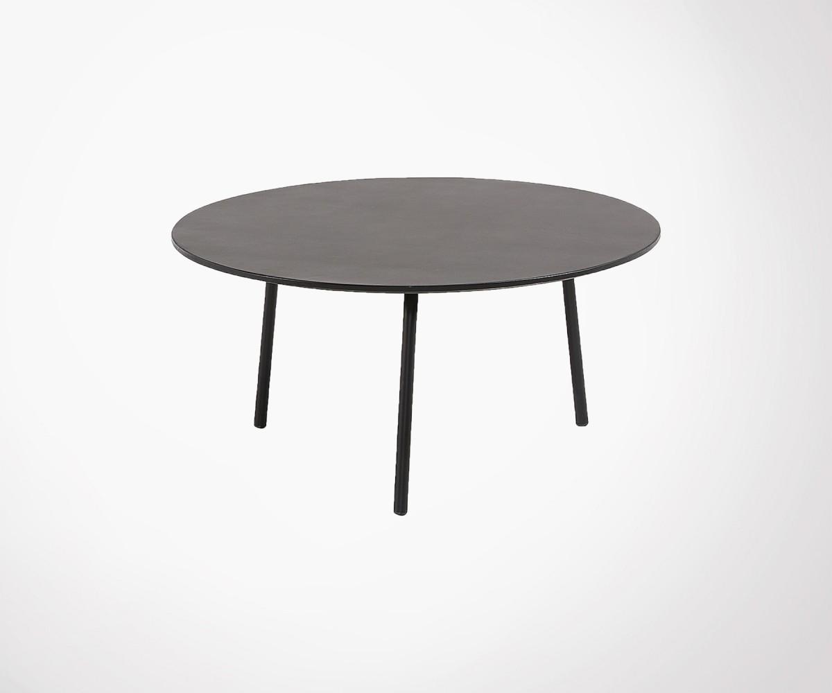grand choix de 21aca e780b Table basse ronde 70cm polyciment peint BAHOS