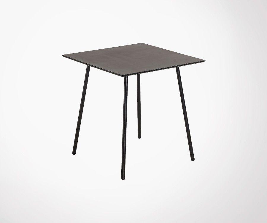 Table carré 75x75cm polyciment peint BAHOS