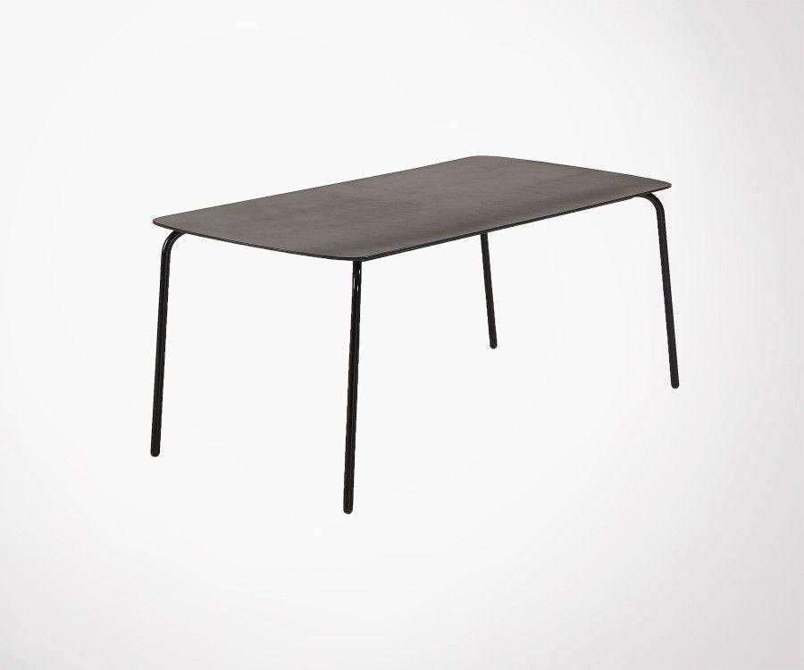 Table à manger 180x60 plateau polyciment BAHOS