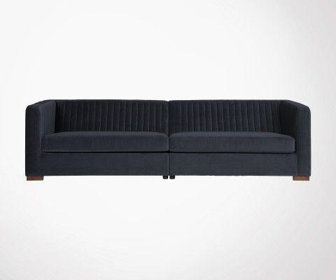 Grand canapé design velours côtelé 4pl IXEL