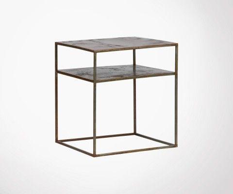 Table d'appoint métal rouille WELLDONE