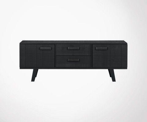 Meuble TV avec tiroirs pin massif WATCH