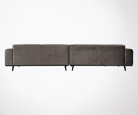 Très grand canapé droit velours 372cm STATEMENT