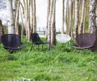 Set 2 chaises de jardin design aspect rotin WINGS