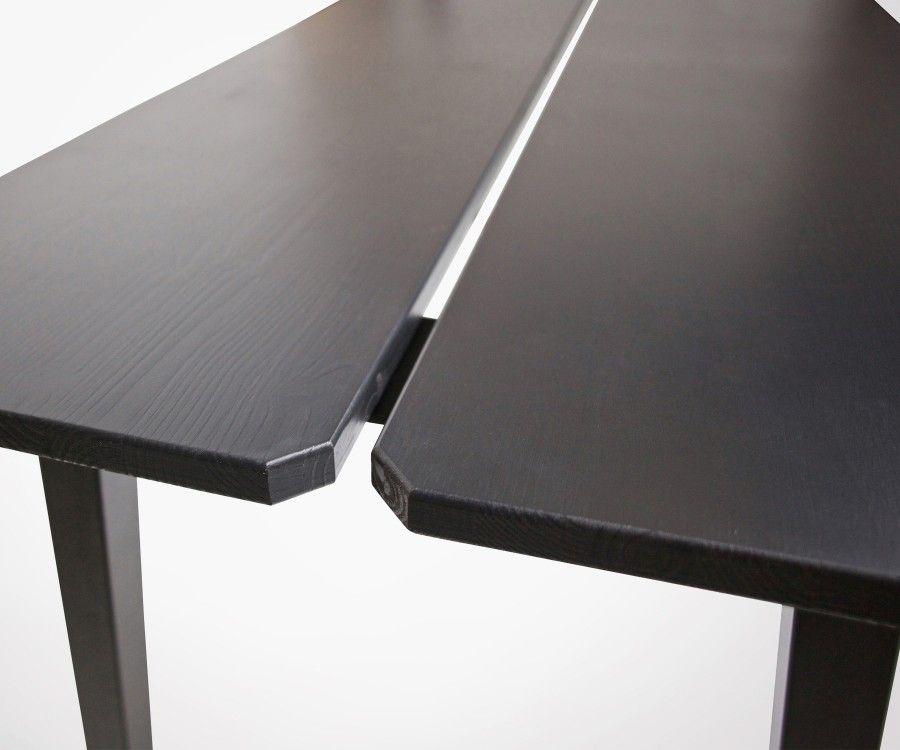 Grande table à manger bois métal noir 210cm TRIUM