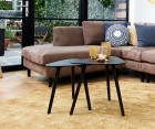 Tables gigognes bois noir style scandinave NILA