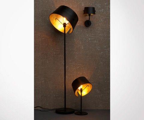 Lampadaire métal noir style antique HOTAL