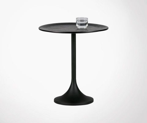 Table appoint ronde chêne pied tulip 53cm BOWIE