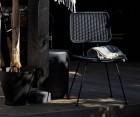 Lot 2 chaises aspect rotin rétro tissé HILDA