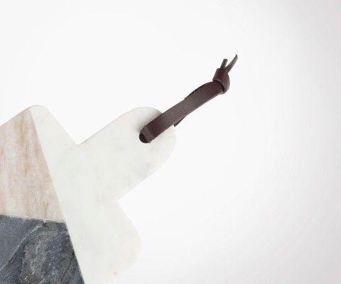 Petite planche à découper marbre multicolor PASTELLE 15x30cm