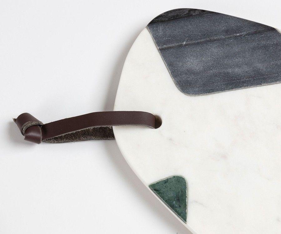 Planche à découper marbre multicolor VACHO 20x30cm