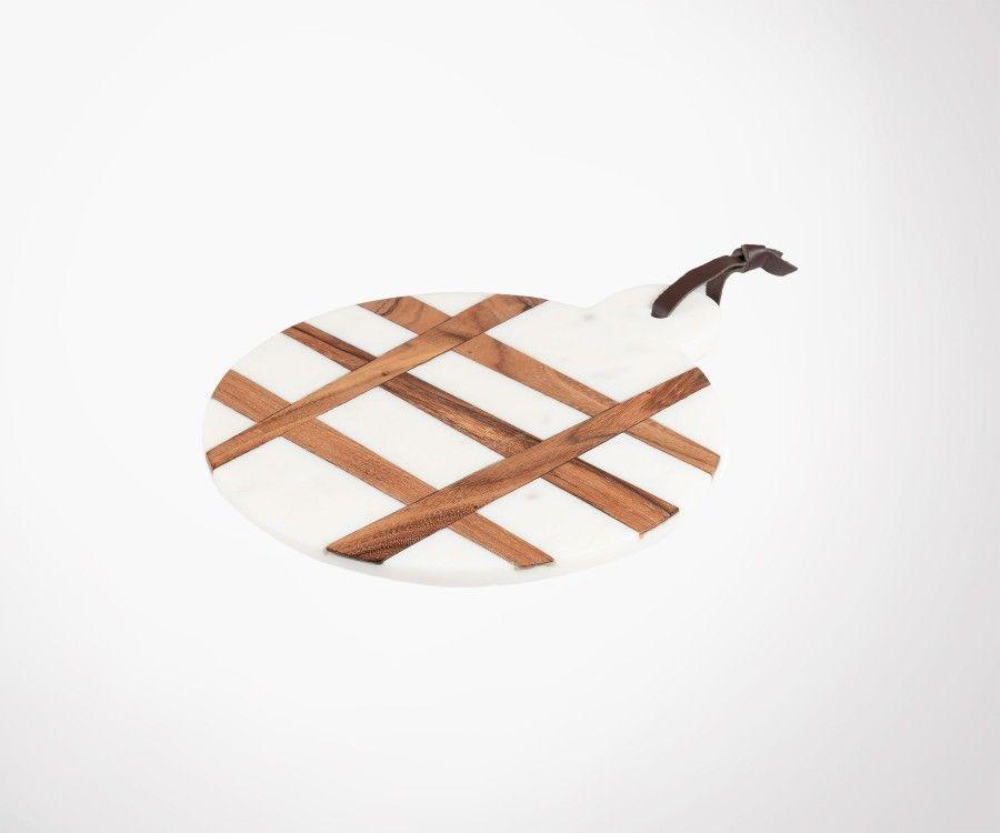 Planche à découper bois marbre WOOBLE 25x30cm
