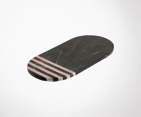 Planche à découper ovale marbre noir PLAK 17x35cm