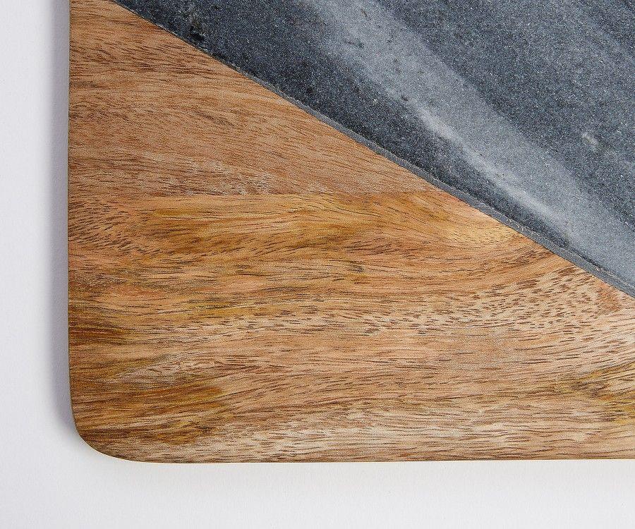 Planche à découper bois marbre gris DISKO 35x20cm