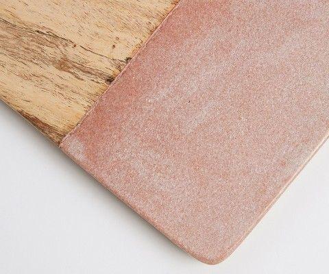 Petite planche à découper bois marbre rose ATLAS 30x20cm