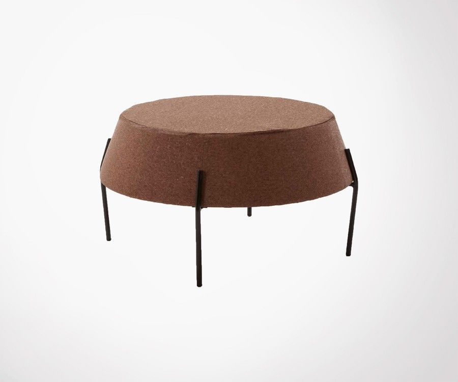 Table basse ronde liège et métal POPIT