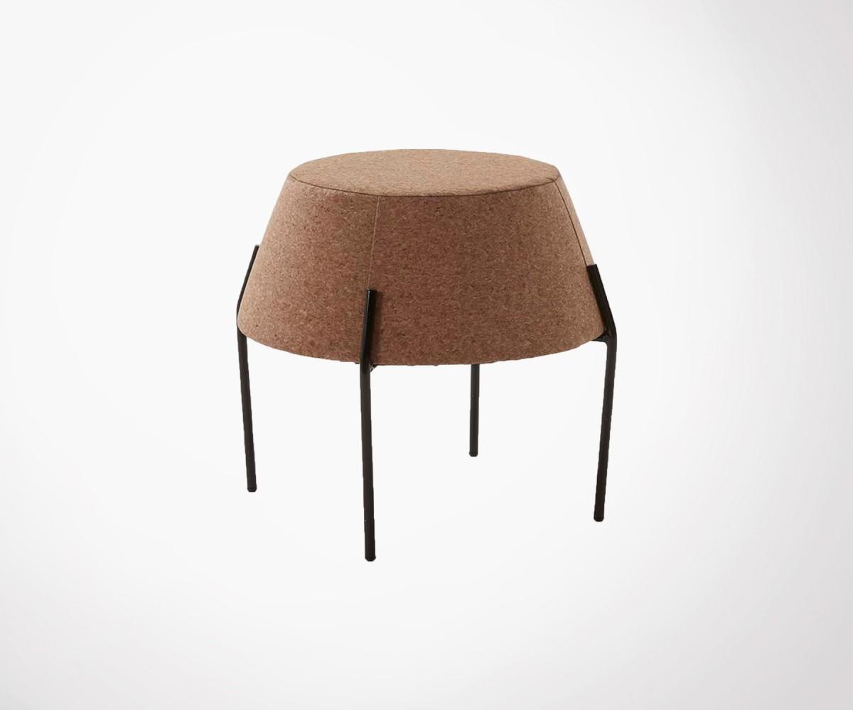 petite table basse 50cm en li ge et m tal style moderne et. Black Bedroom Furniture Sets. Home Design Ideas