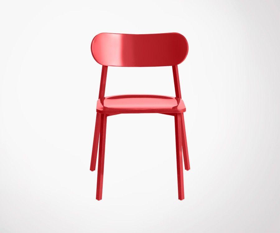 Chaise métal empilable CLARK