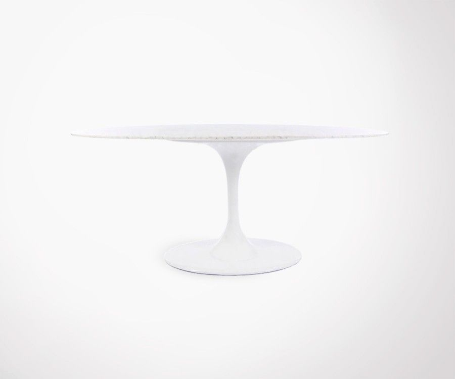 Tres grande table marbre ovale FLOWER 198x120cm