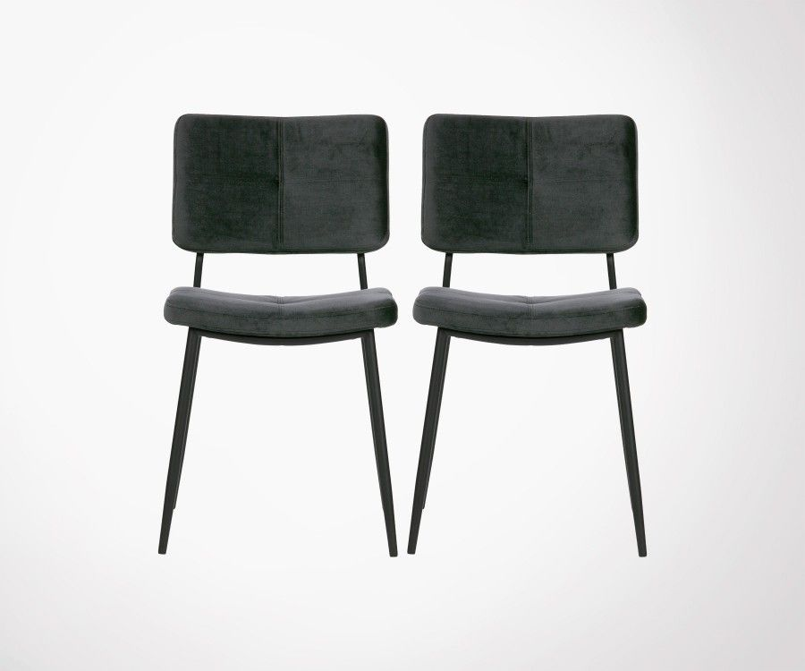 Lot 2 chaises design velours KAAT