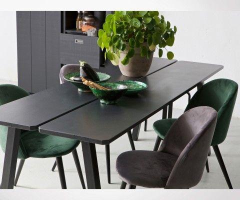 Set de 2 chaises de salle à manger velours FAY