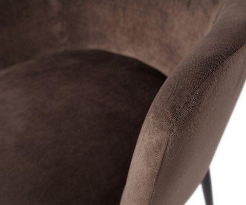 Chaise velours avec accoudoirs TATUM