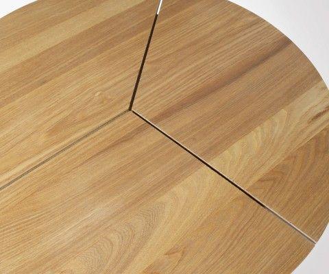Table basse ronde chêne et métal 38x60cm RODI