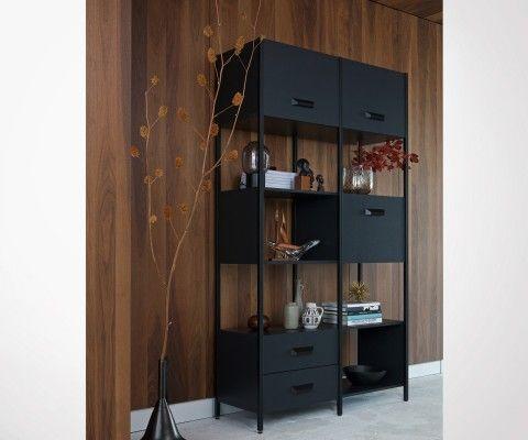 Bibliothèque design bois métal LEGACY