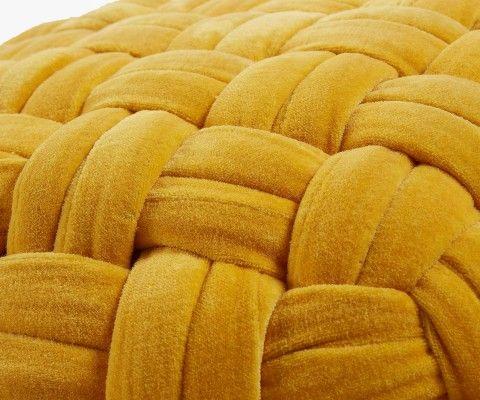 Pouf design effet trico tissu NIALOU