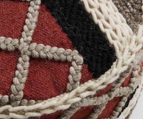 Pouf coton multicolor style bohème KOZZIE