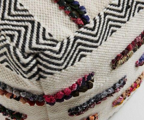 Pouf ethnique coton multicolor MASCLEY
