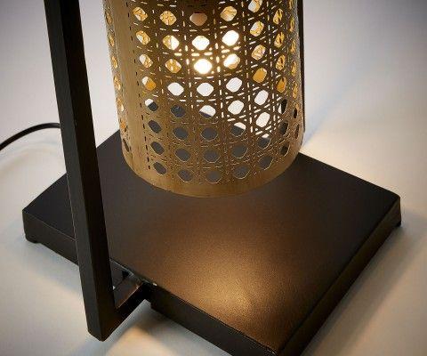 Lampadaire métal noir et doré GUERRY