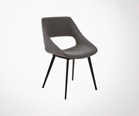 Chaise tissu design ergonomique TOUTY