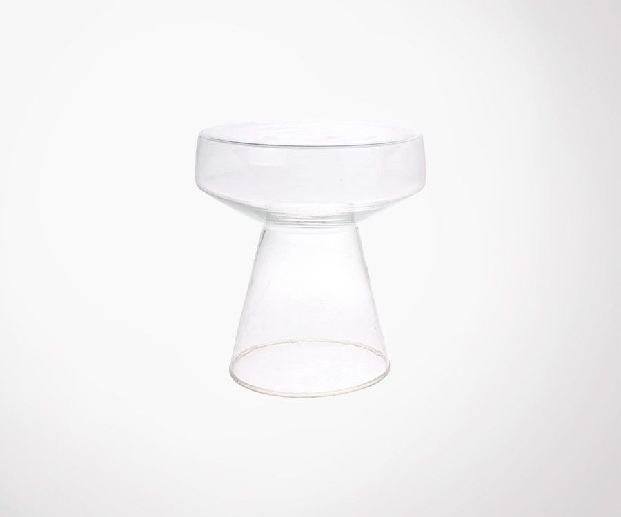 Table d'appoint transparente en verre DYLS - HK Living