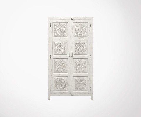 Grande armoire sculptée style antique OPENA - HK Living