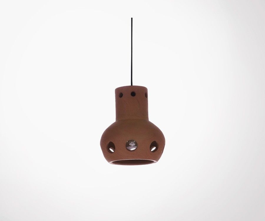 Lampe suspendue terre cuite 16,5cm HANGOSOR - HK Living