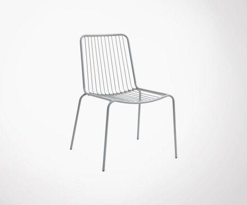 Chaise de jardin design en métal GARDEN - Nordal