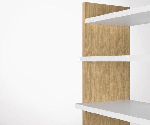 Bibliothèque 5 étages style contemporain NIKO - Temahome