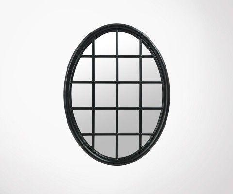 Grand miroir ovale quadrillé 120cm BONELA - J-Line