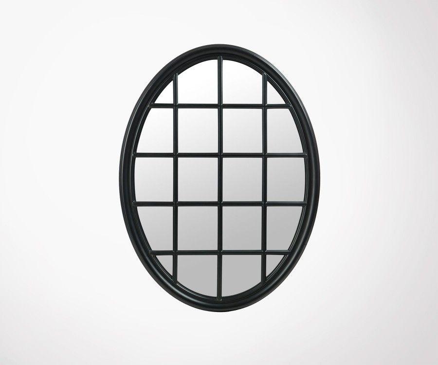 Grand miroir ovale cadrillé 120cm BONELA - J-Line