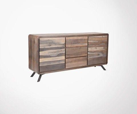 Buffet en bois et metal noir HAVANA - Label 51