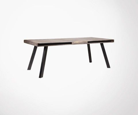 Table a manger en bois et metal noir HAVANA - Label 51