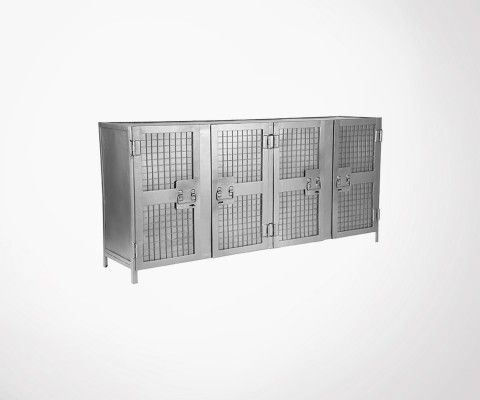 Grand buffet bas 4 portes en metal LUMINE - Label 51