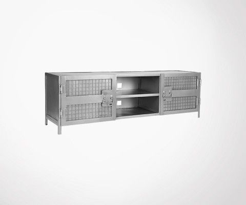 Meuble TV métal style industriel LUMINE - Label 51